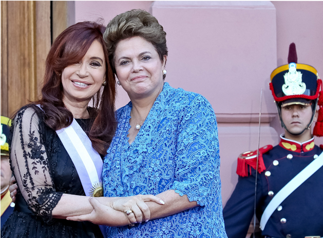 Presidenta Dilma Rousseff durante cumprimentos à Presidenta da Argentina, Cristina Kirchner, na Casa Rosada. (Foto: Roberto Stuckert Filho/PR)