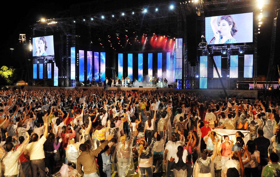 Diante do Trono no Festival Promessas (Foto: Alexandre Durão/G1)