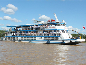 Embarcação possibilita a qualificação profissional em cidades interioranas (Foto: Divulgação)