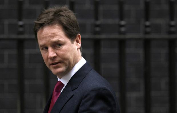 O vice-primeiro ministro britânico, Nick Clegg, em foto de 29 de novembro (Foto: Suzanne Plunkett / Reuters)