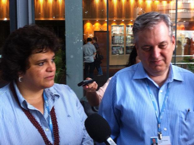 Ministra do Meio Ambiente Izabella Teixeira e embaixador Luiz Alberto Figueiredo após o término da COP 17 (Foto: Dennis Barbosa/G1)
