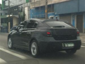 Internauta fotografou o novo Chevrolet Cruze hatch em SP (Foto: Guilherme Piccin Malavazi/VC no G1)