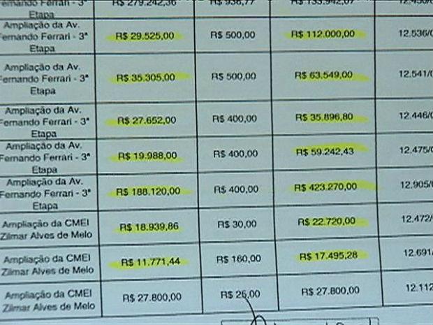 Lista de prédios das desapropriações de Vitória (Foto: Reprodução/TV Gazeta)