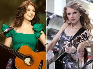 Paula Fernandes e Taylor Swift (Foto: Divulgação e AP)