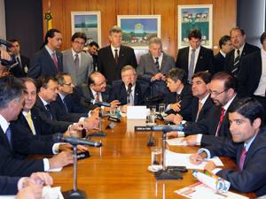 Reunião de líderes da Câmara, que definiu pauta de votações desta semana no plenário. (Foto: J.Batista/Agência Câmara)