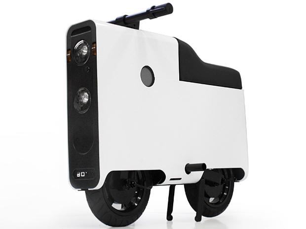 O scooter Boxx tem formato de caixa (Foto: Divulgação)