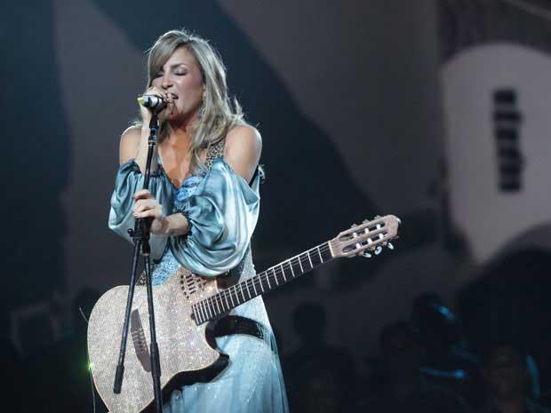 Claudia Leitte grava DVD duplo 'Verde e Amarelo', em Salvador, na noite desta terça-feira (13). (Foto: Divulgação / Fábio Nunes)
