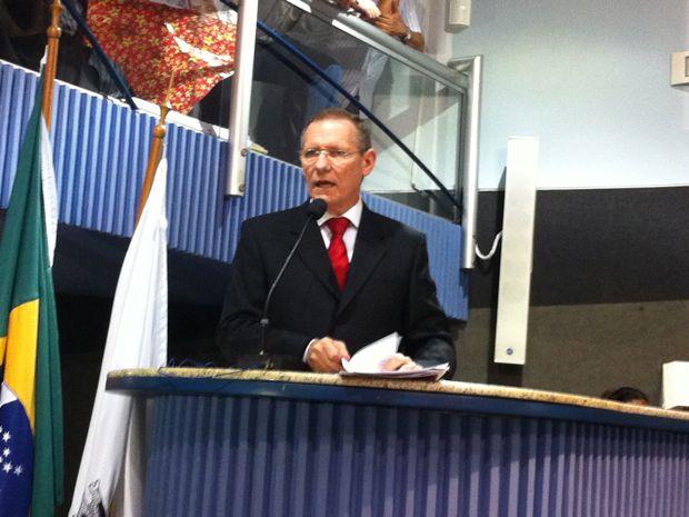 João Coser se defende contra denúncias nas desapropriações (Foto: Juirana Nobres / G1ES)