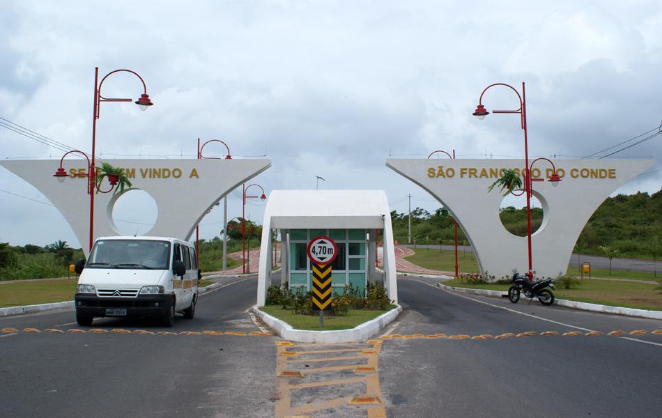 Entrada do município de São Francisco do Conde, cidade a 63 km de Salvador