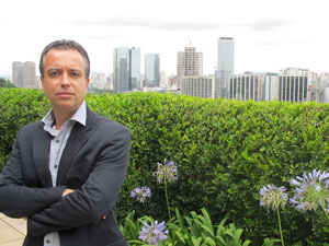 Paulo Nascimento, da Azul. (Foto: Darlan Alvarenga/G1)