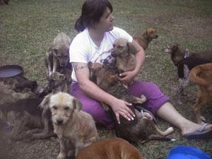 Sara dedica boa parte de seu tempo para cuidar dos animais (Foto: Arquivo pessoal)