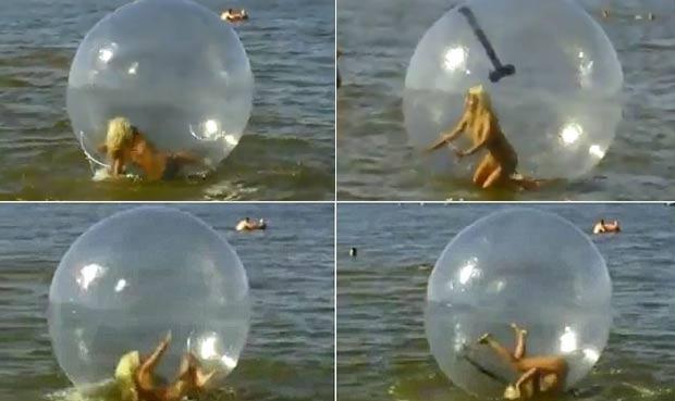 Turista filmou a cena engraçada e publicou o vídeo na internet. (Foto: Reprodução/YouTube)