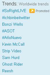Trending Topics no Mundo, 17h10 (Foto: Reprodução)