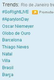 Trending Topics no Rio às 17h17 (Foto: Reprodução)
