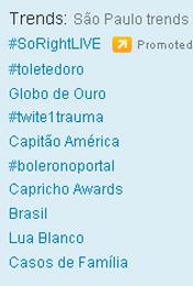 Trending Topics em SP às 17h30 (Foto: Reprodução)