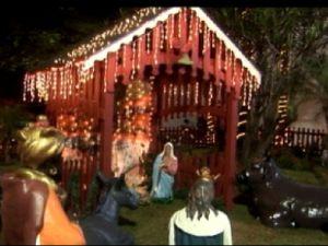 A decoração e iluminação são parte das atrações em Tupã (Foto: reprodução/TV Tem)