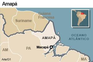 mapa do Amapá (Foto:  G1)