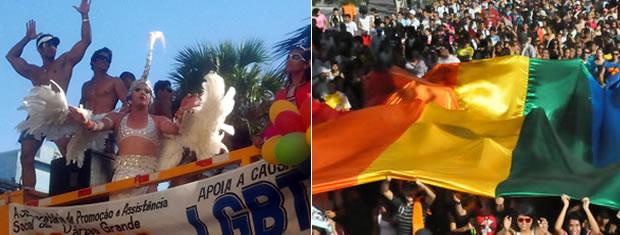 Centenas de pessoas acompanham o trio elétrico na tarde desta sexta-feira, no centro da capital. (Foto: Deivison Almeida/G1)