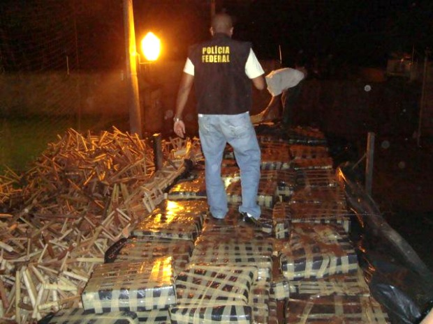 Federal Police seize over 13 tons of marijuana (Photo: Reuters / PF / G1 MS)