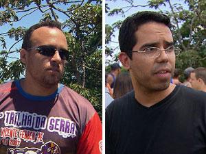 Eronildes e Daivson, amigos de Ewerton (Foto: Reprodução/TV Globo)