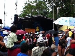 Inauguração contou com o show da 'Galinha Pintadinha' (Foto: Carlos Eduardo Matos/G1 AM)