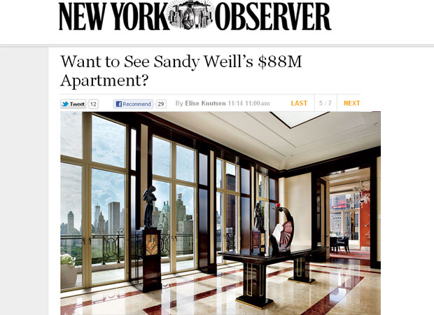 Apartamento de US$ 88 milhões tem uma vista ampla para o Central Park (Foto: Reprodução)