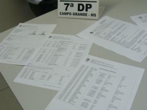 Ficha policial registra pelo menos 30 crimes do suspeito (Foto: Aliny Mary Dias / G1 MS)