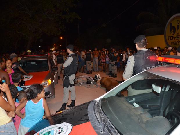 Acidente com carroça em Cabedelo (Foto: Walter Paparazzo/G1)