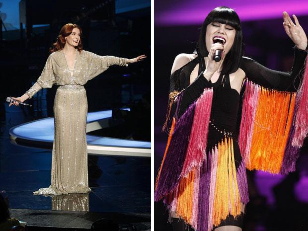 As cantoras Florench Welsh e Jessie J. durante participação no evento 'VH1 divas celebrates soul' em Nova York (Foto: Carlo Allegri/Reuters)