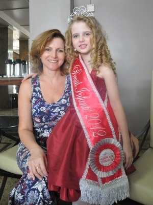 Miss Brazil Child 2012 –  an eight-year-old blond from the state of Parana was elected in December 2011 in Mato Grosso do Sul