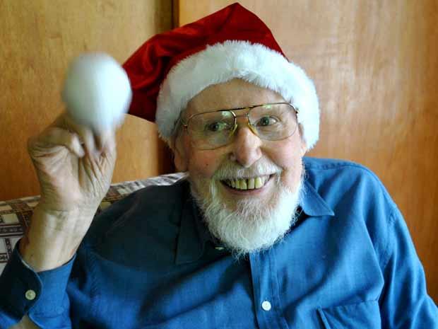 Günter virou Papai Noel ao ser recrutado por agência em Porto Alegre (Foto: Luiza Carneiro/G1)
