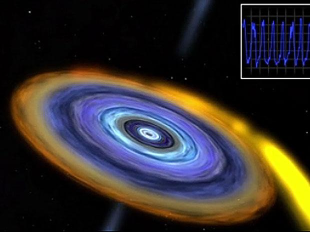 Ilustração de como seria o menor buraco negro já detectado (Foto: NASA/Goddard Space Flight Center/CI Lab)