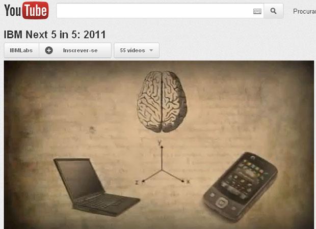 Cientistas da IBM pesquisam como conectar o cérebro do usuário aos seus aparelhos, como computador e smartphone (Foto: Reprodução/YouTube)