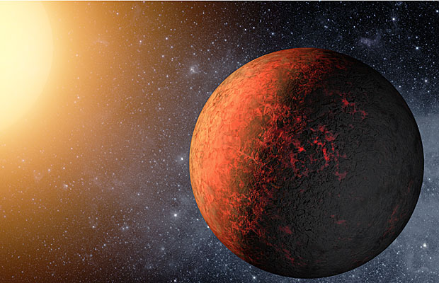 Ilustração do Kepler 20e, o menor planeta extrassolar já encontrado.  (Foto: NASA/JPL-Caltech/T. Pyle)