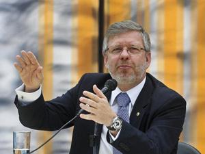 O presidente da Câmara, Marco Maia, durante balanço das atividades da Casa em 2011 (Foto: Antônio Cruz / Agência Brasil)