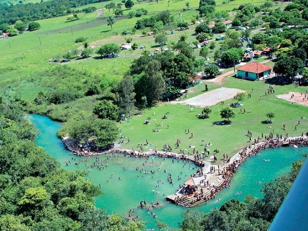 Vista aérea do Balneário Municipal de Bonito (Foto: Divulgação/Prefeitura de Bonito)