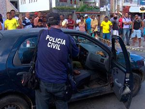 Homem morre a tiros no bairro de Cidade Nova, em Salvador (Foto: Reprodução/ TVBA)