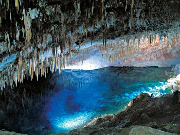 Gruta do Lago Azul é um dos cartões-postais de Bonito (Foto: Divulgação/Prefeitura de Bonito)