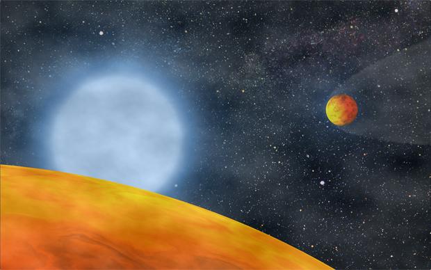 Astrônomos descobrem dupla de planetas 'engolida' por estrela Koi55-v6.1