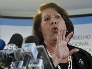 Ministra Eliana Calmon durante entrevista nesta quinta (22) (Foto: Antônio Cruz / Agência Brasil)