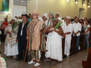 Religiões africanas participam da Santa Missa realizada em 2010 (Foto: Divulgação/ Prefeitura de Corumbá)
