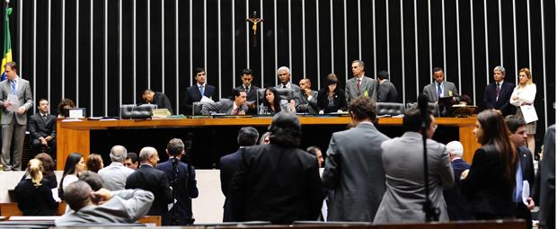Plenário do Congresso, que reuniu senadores e deputados para votação do Orçamento de 2012 (Foto: Gustavo Lima/Ag.Câmara)