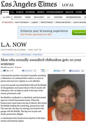 """Imagem de Shields divulgada pelo """"Los Angeles Times"""" (Foto: Reprodução)"""