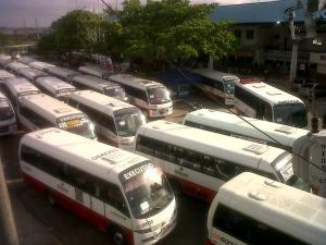 Ônibus executivos (Foto: Héveny Bandeira/G1)