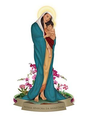 Imagen de Nossa Senhora da Amazônia (Foto: Divulgação)
