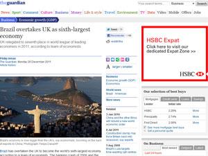 'The Guardian' destacou o crescimento do Brasil (Foto: Reprodução/The Guardian)