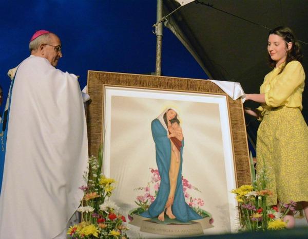 Arcebispo de Manaus celebrou missa de apresentação da imagem da Nossa Senhora da Amazônia (Foto: Arquivo Pessoal)
