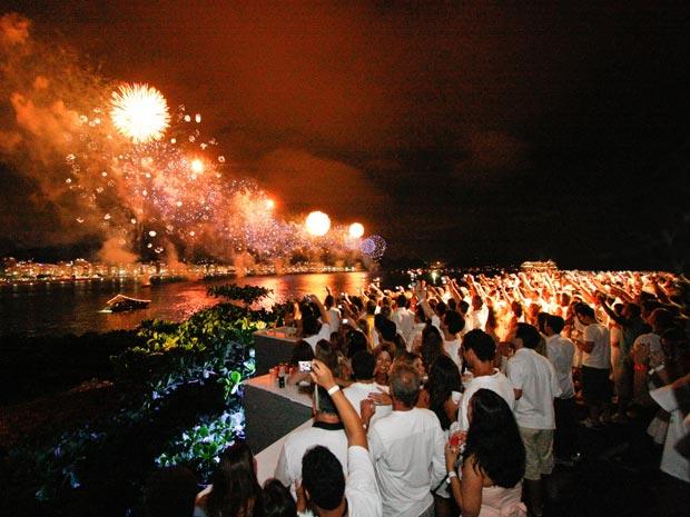 Divulgação/Riocom Eventos (Foto: A festa no Forte de Copacabana no ano passado)