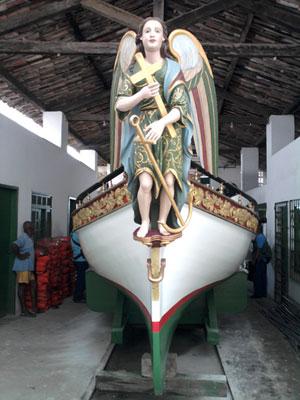 Galeota Gratidão do Povo (Foto: Genildo Lawinscky/TV Bahia)