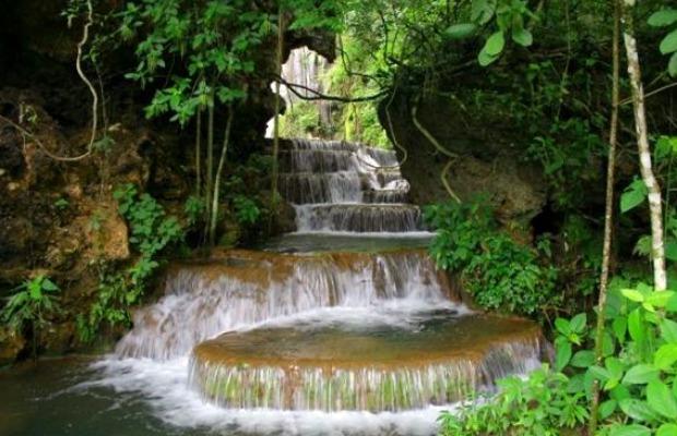 Cachoeira 'Garganta da Arara', em Bodoquena (Foto: Divulgação/Boca da Onça)